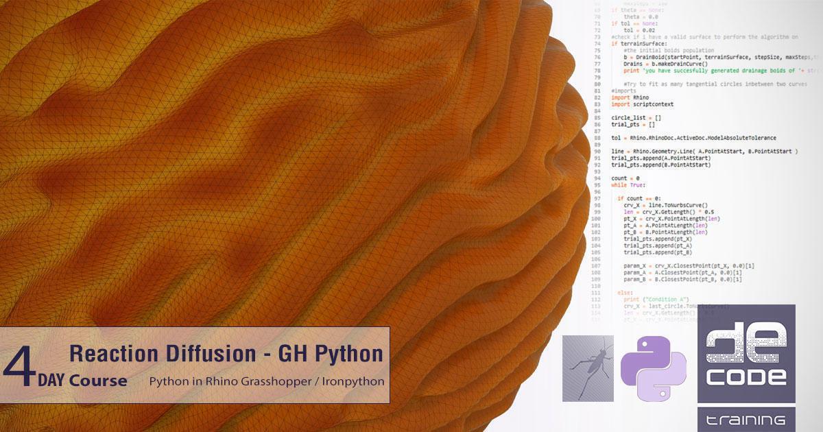 reaction diffusion python in rhino grasshopper decode fab lab