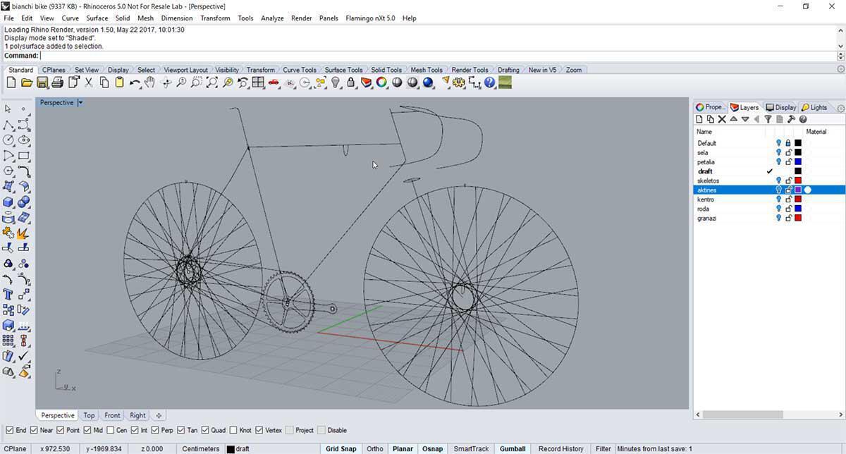 Fixed gear bike - Rhino Lvl 1 - Decode Fab Lab