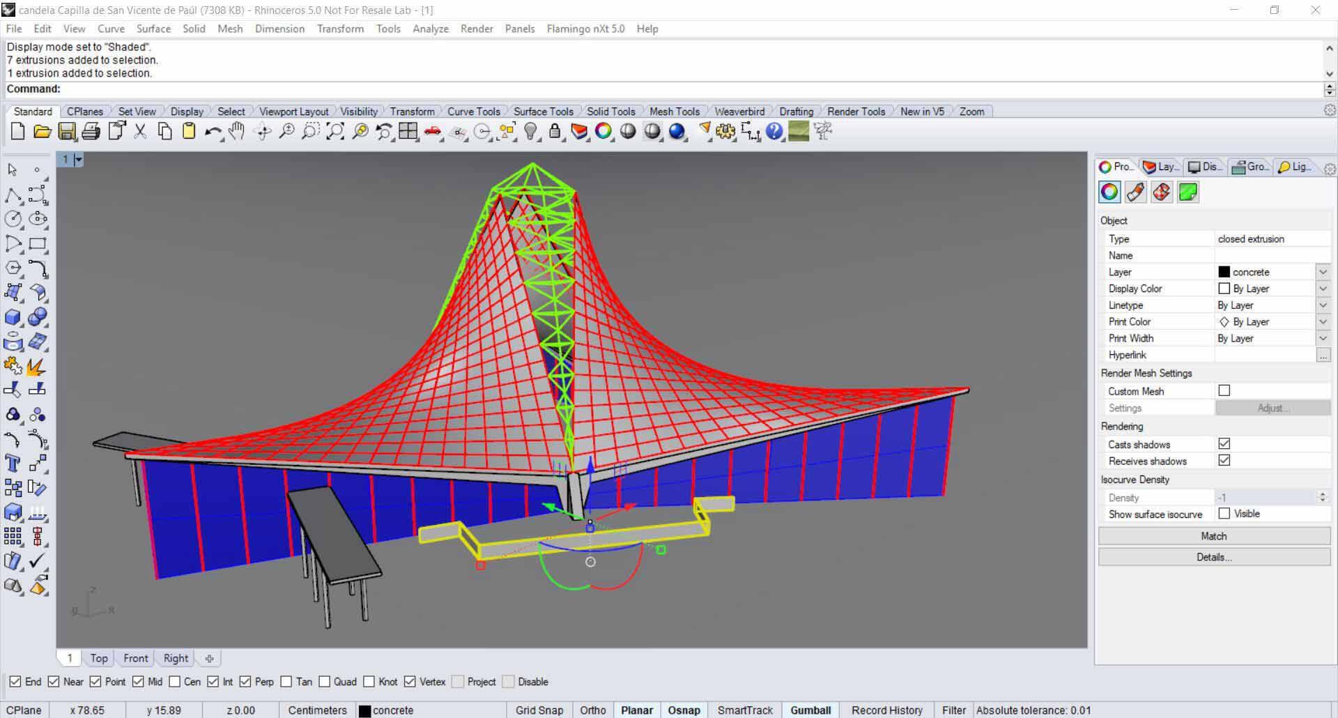 Felix Candela's Chapel - Rhino Lvl 1 - Decode Fab Lab