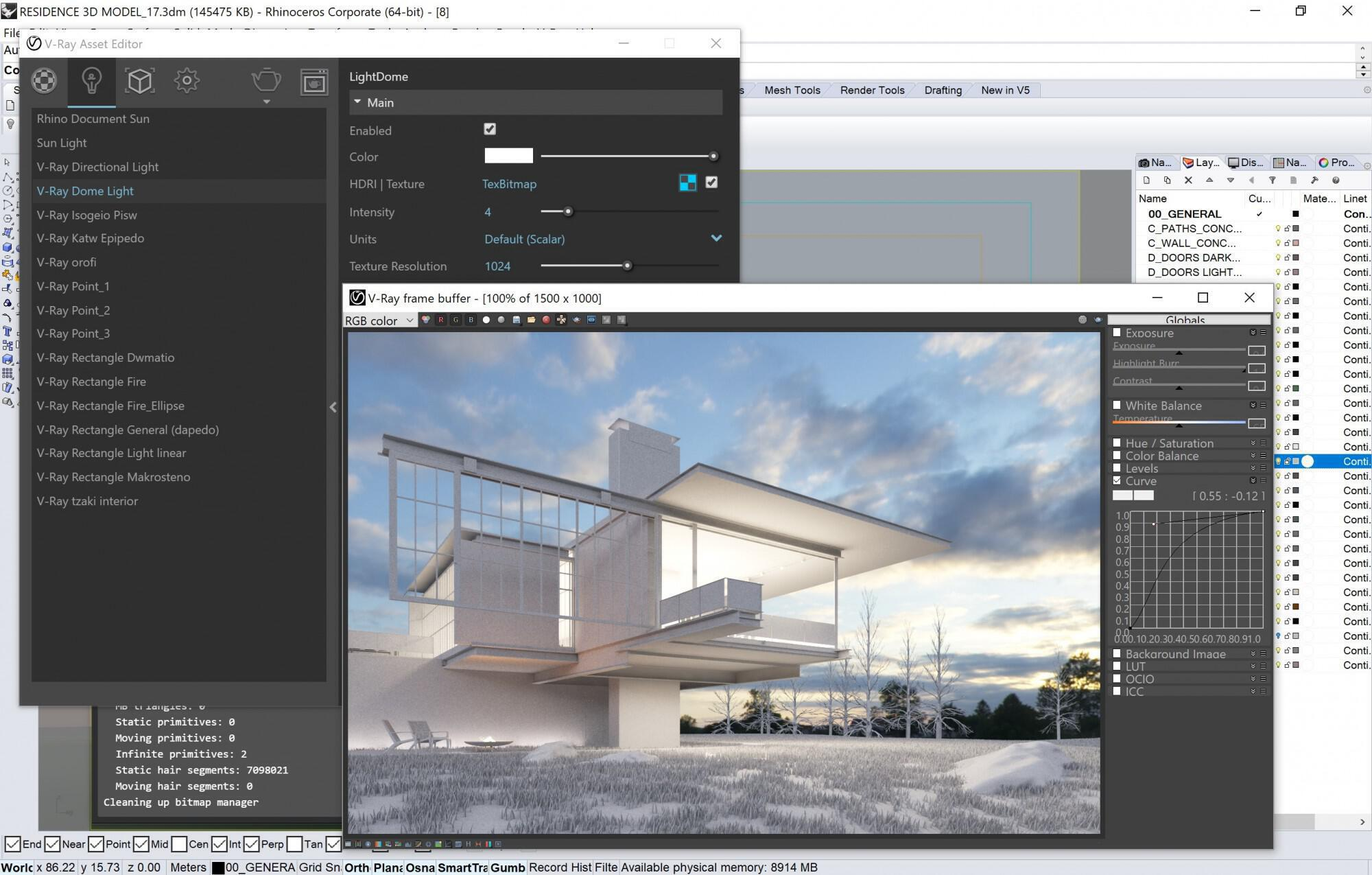 Vray_3 6 for Rhino   Hover House - Decode Fab Lab