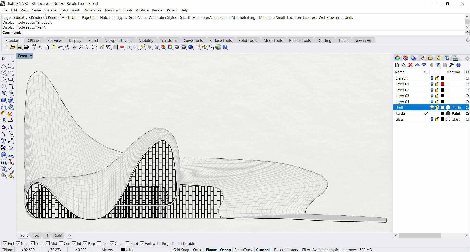Heydar Aliyev Center - Rhino Lvl 1 - Decode Fab Lab